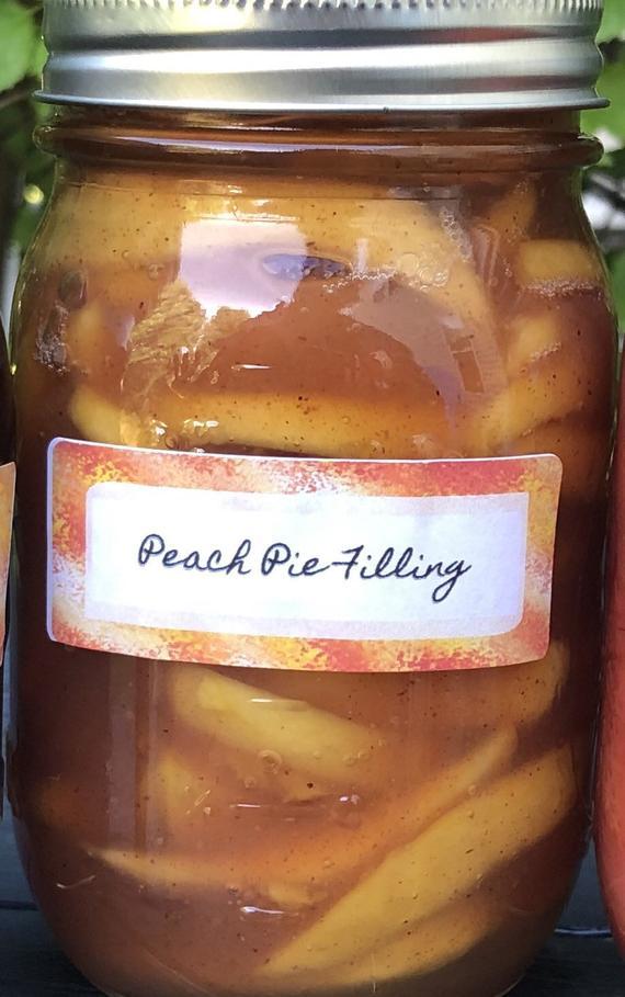Peach Pie Filling   Etsy
