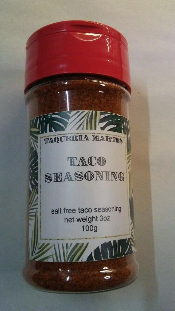 Taqueria Martes Spicy Taco Seasoning . Salt/Sodium Free. 3 Oz | Etsy