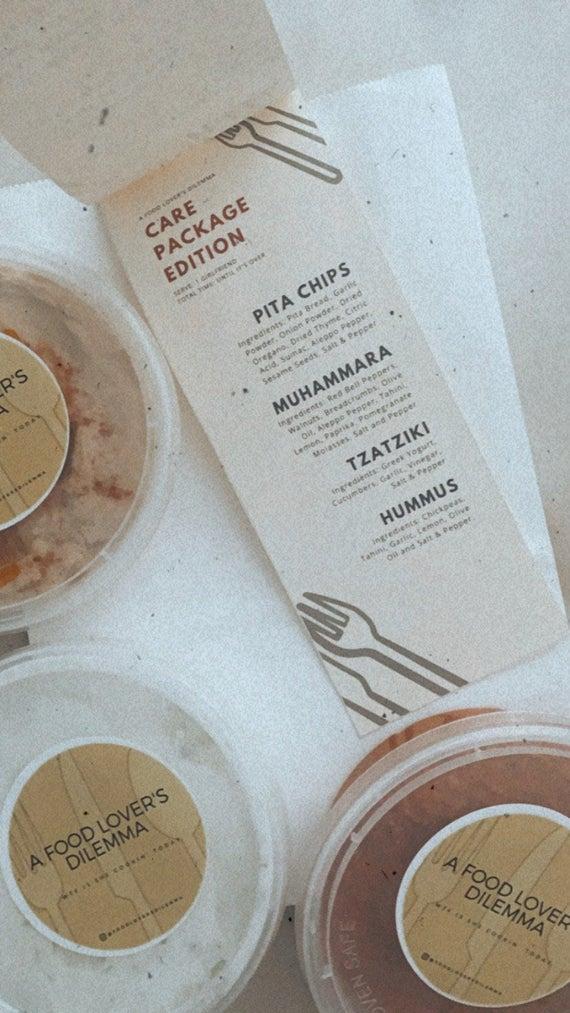 Care Package: Hummus Muhammara Tzatziki and Pita Chips | Etsy