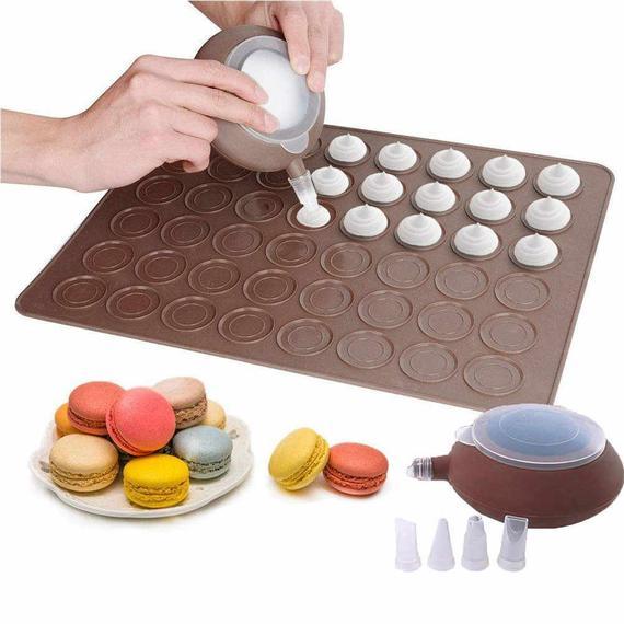 48 Capacity Macarons Silicone Mat Baking Mold Silicone Macaron   Etsy