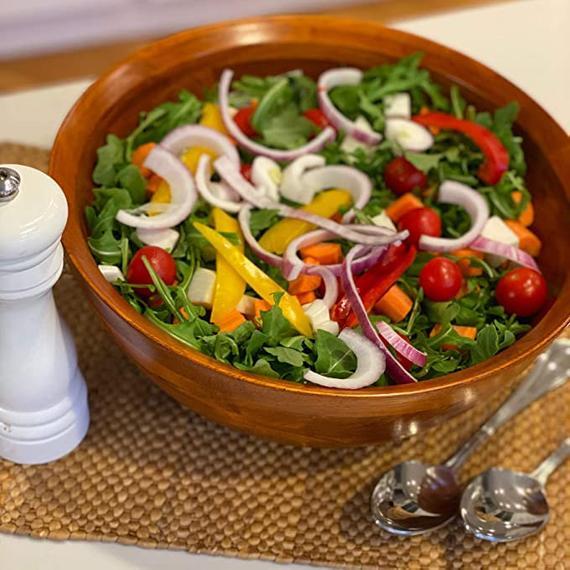 Woodard & Charles Large Wooden Serving Bowl for Salads   Etsy