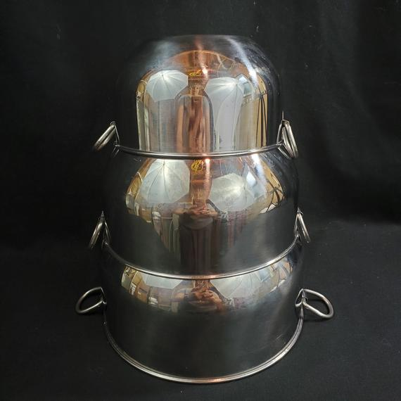Farberware Bowls Stainless Steel Nesting 2 Rings Made in | Etsy