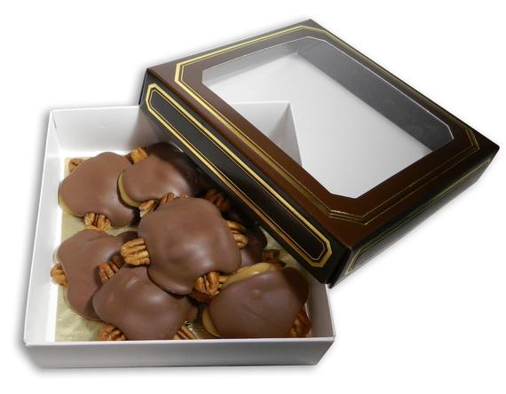 Milk Chocolate Pecan Caramel Turtles 8oz   Etsy