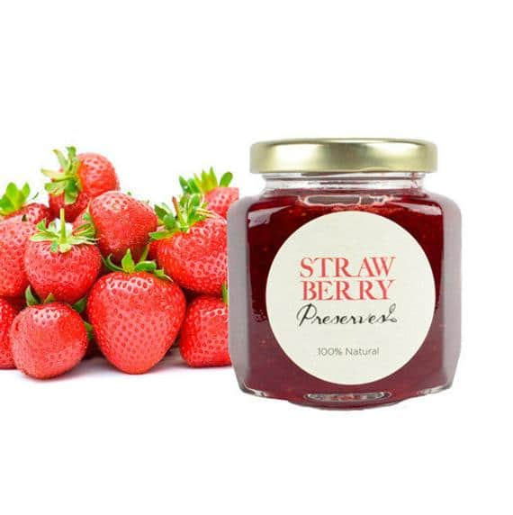 Gourmet Strawberry Preserves // All Natural // New Hampshire   Etsy