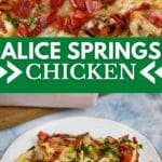 Alice Springs chicken collage