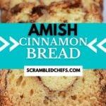 Sliced loaf of cinnamon bread
