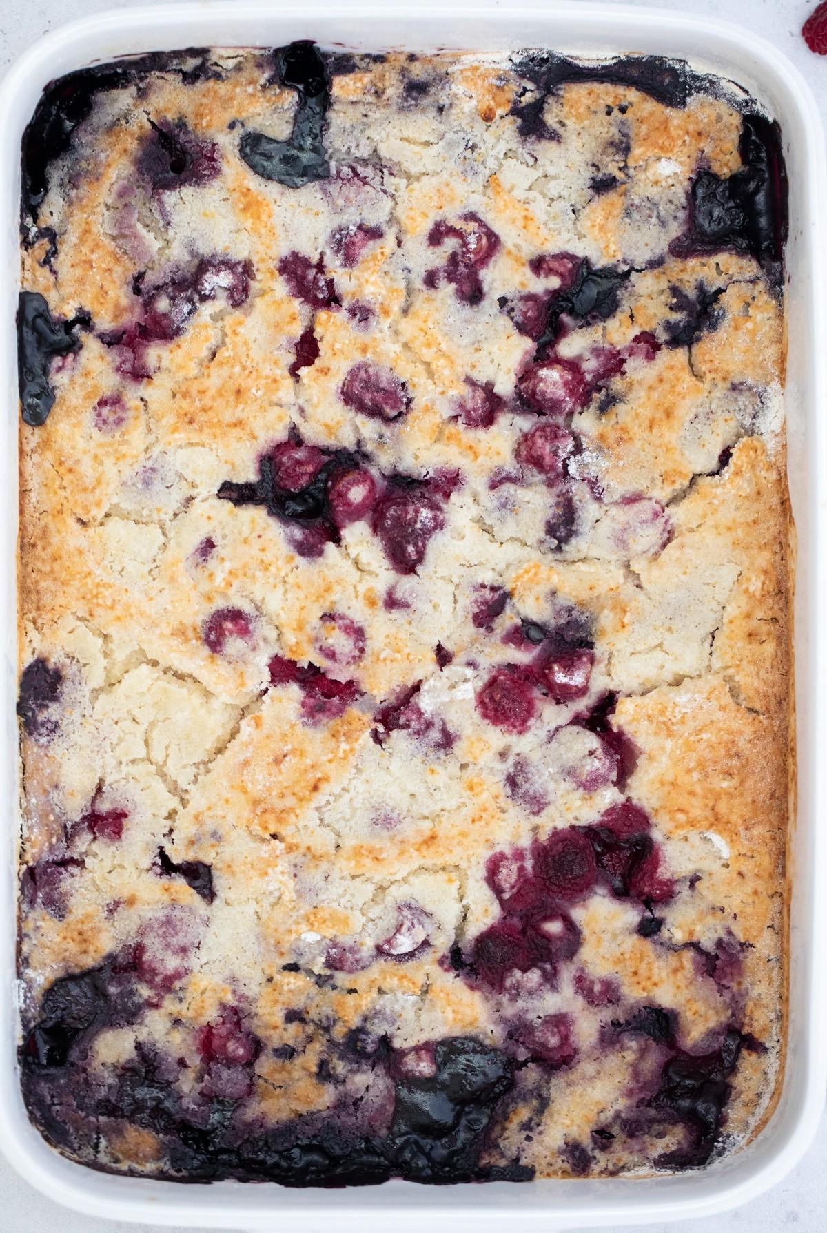 Baked berry cobbler