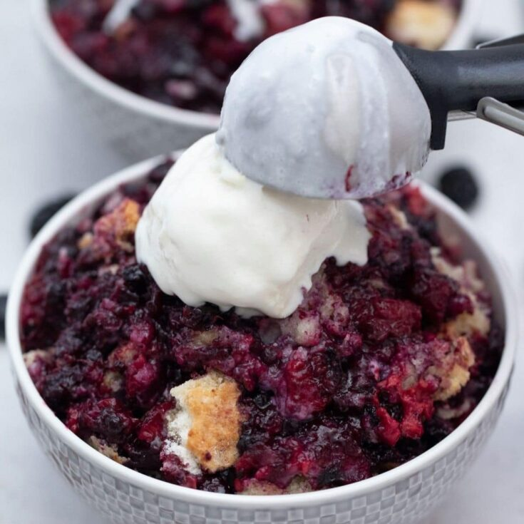 The Easiest Cake Mix Berry Cobbler Recipe