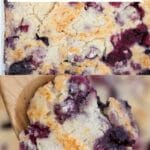 Berry cobbler collage