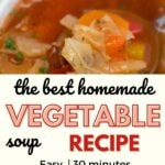 White bowl of cabbage vegetable soup