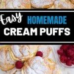Cream puff collage