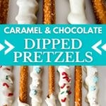 Dipped pretzel collage