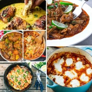 Dutch oven meals collage