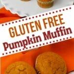 Gluten free pumpkin muffin collage