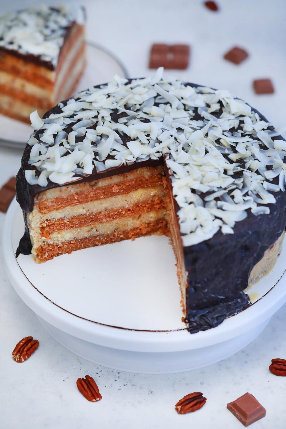 Cake with slice out