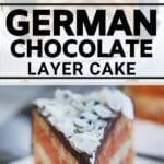 Chocolate cake collage