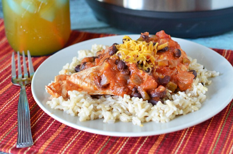 Salsa chicken with rice