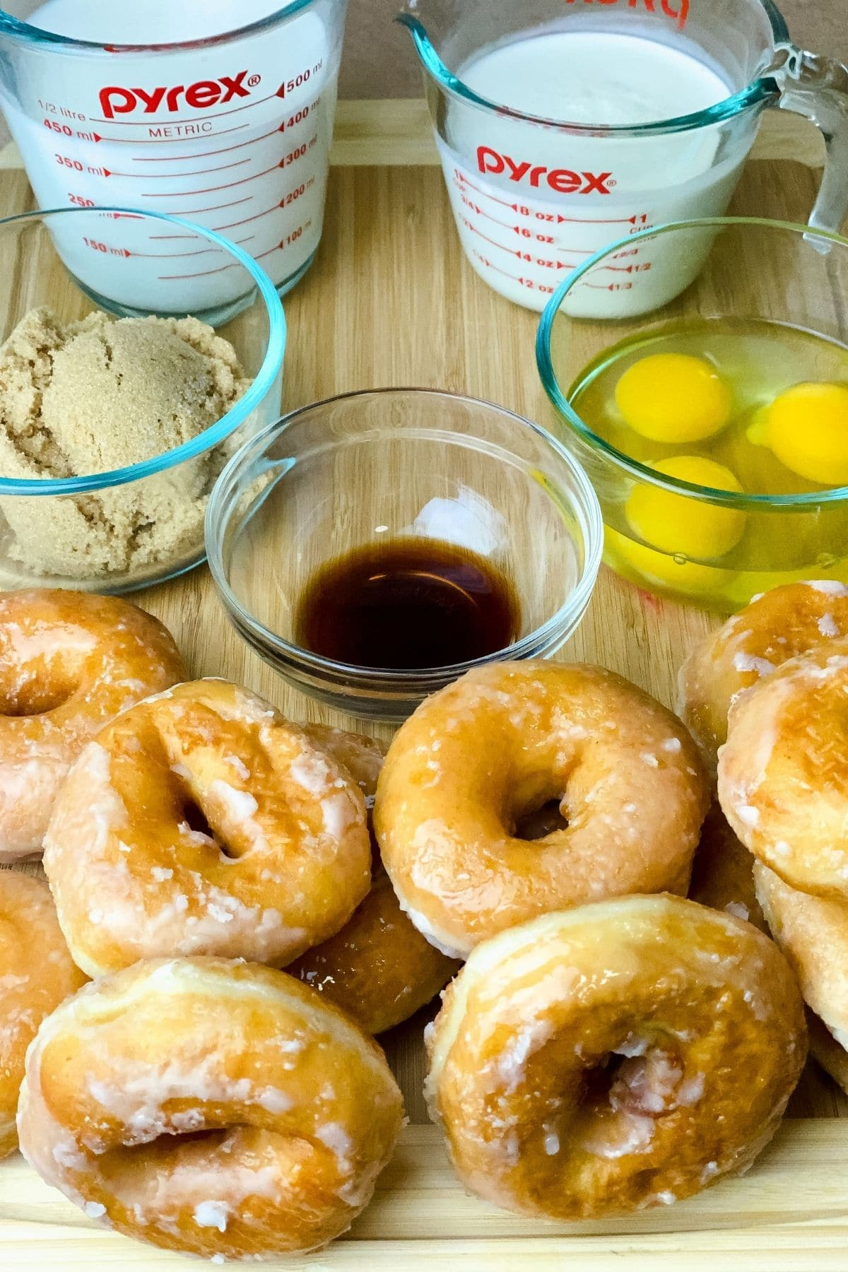 Donut bread pudding ingredients