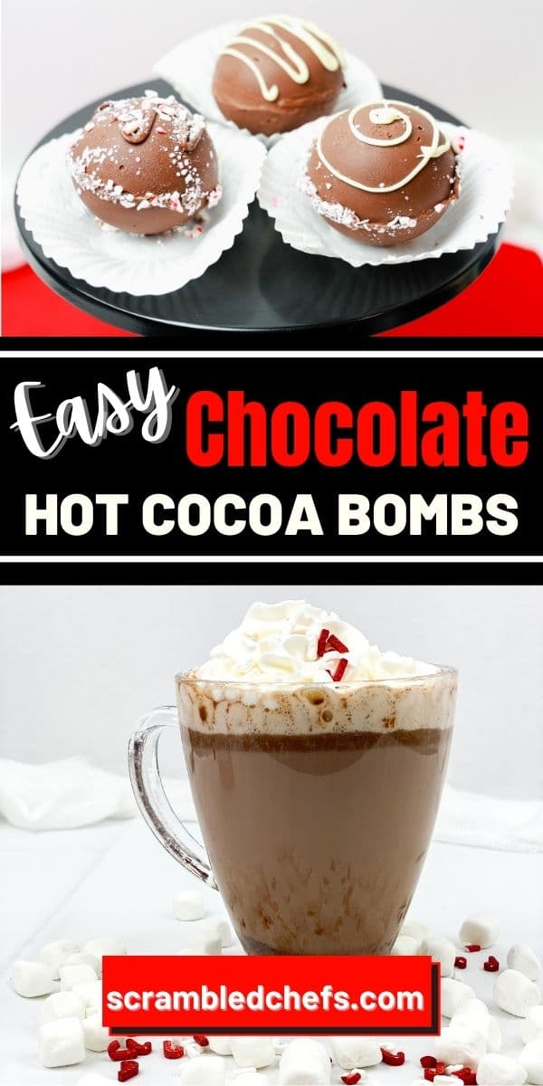 Hot cocoa bombs collage
