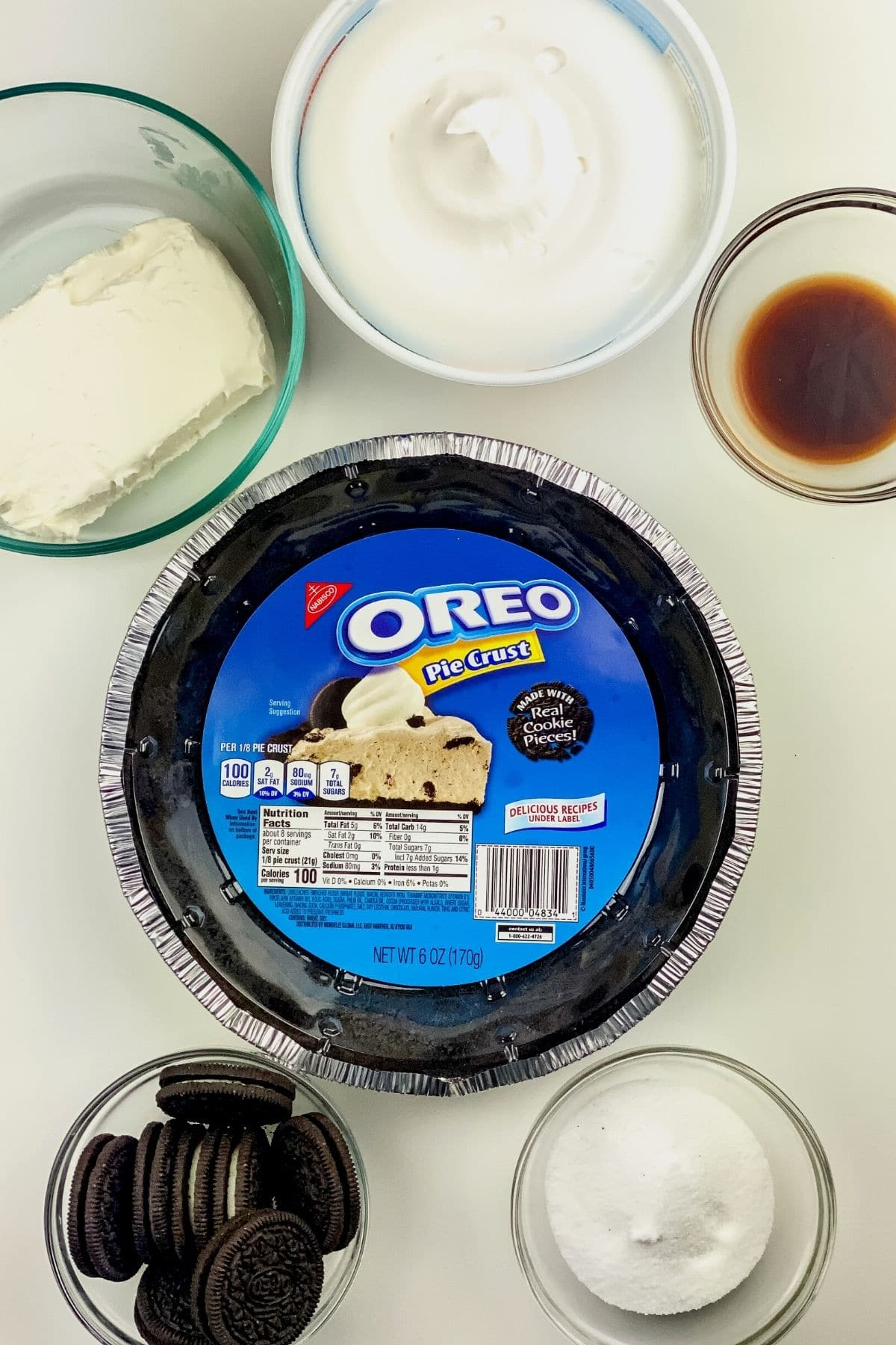 No bake oreo cheesecake ingredients
