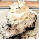 Slice of Oreo cheesecake