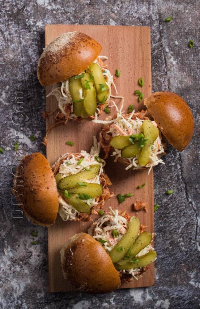 Pork slider with pickles