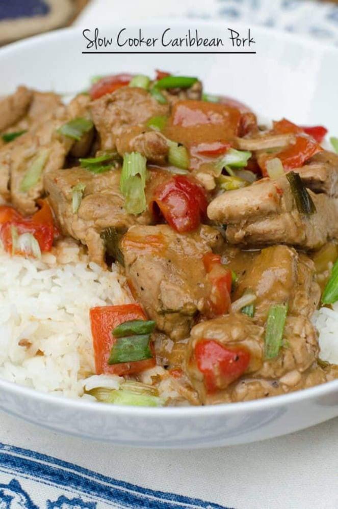 Carribean pork on rice