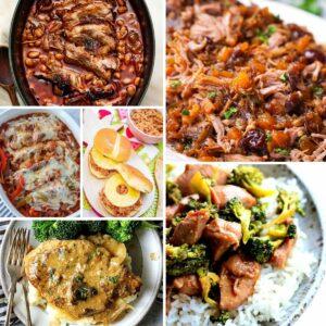 Slow cooker pork recipe collage