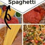Taco spaghetti collage