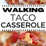 Walking taco casserole collage