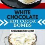 Hot cocoa bomb collage