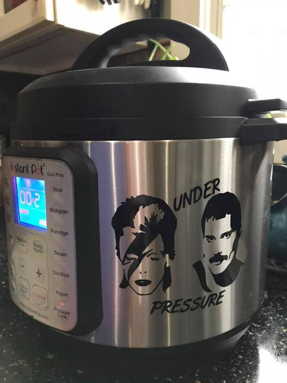 Instant Pot Decal / Under Pressure Decal / Crockpot Decal | Etsy