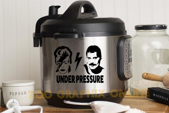 UNDER PRESSURE Instant Pot Decal | Etsy