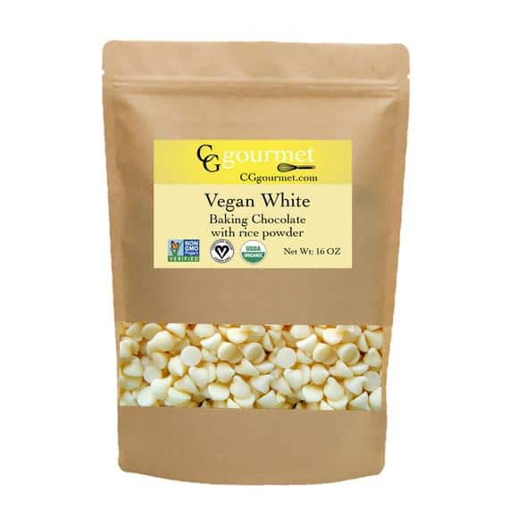 Vegan White Chocolate Chips with rice powder 16 OZ 1 LB | Etsy