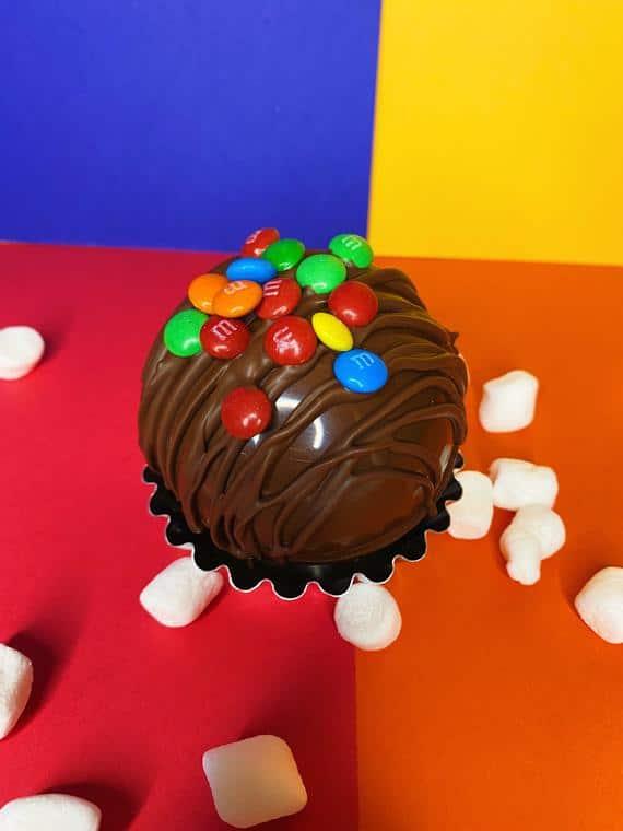Hot Chocolate Bomb M&M Loaded Hot Cocoa Bomb | Etsy