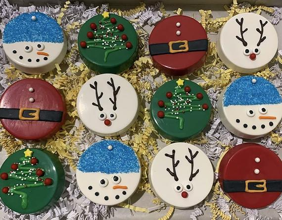 Christmas Chocolate Covered Oreos | Etsy