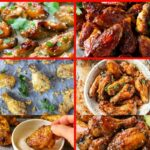 Chicken wings collage