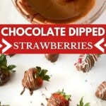 Chocolate covered strawberries collage