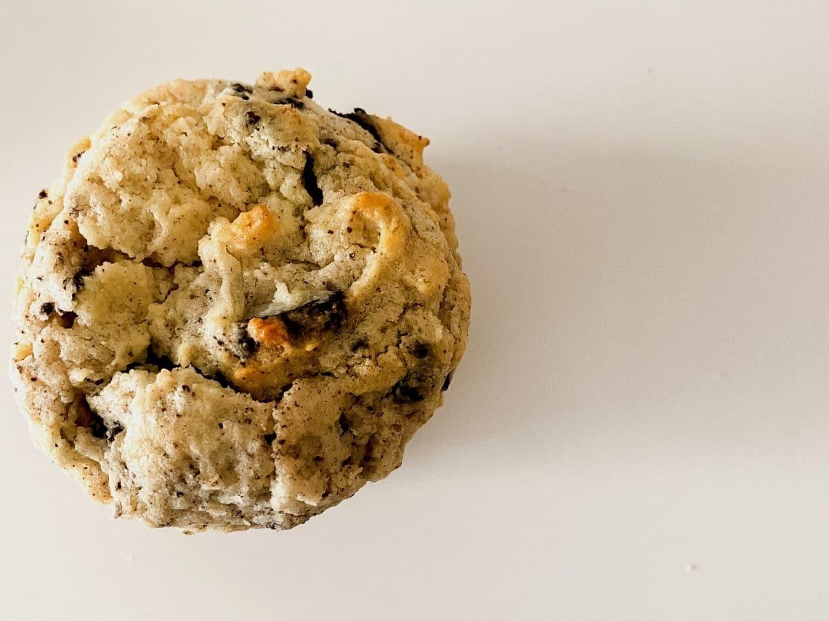 Single cookie on table