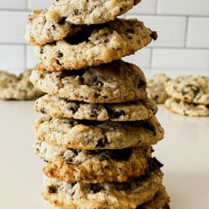 Stack of cookies and cream cookies