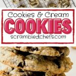 Cookies and cream cookies collage