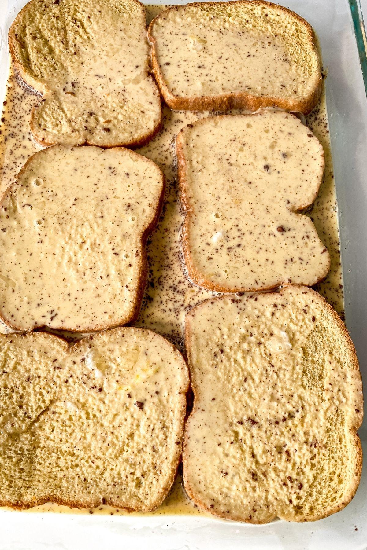 French toast soaking