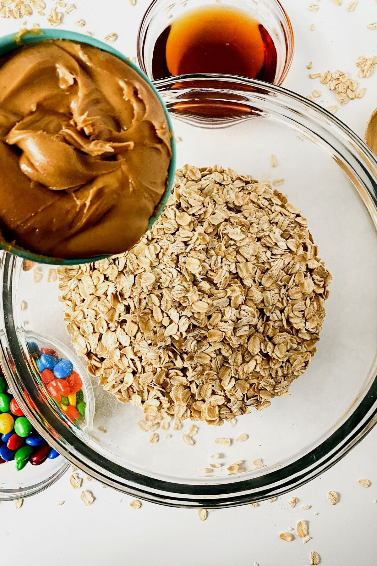Adding peanut butter to energy bites