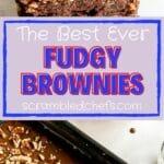 Fudge brownies collage