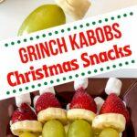 Grinch kabob collage