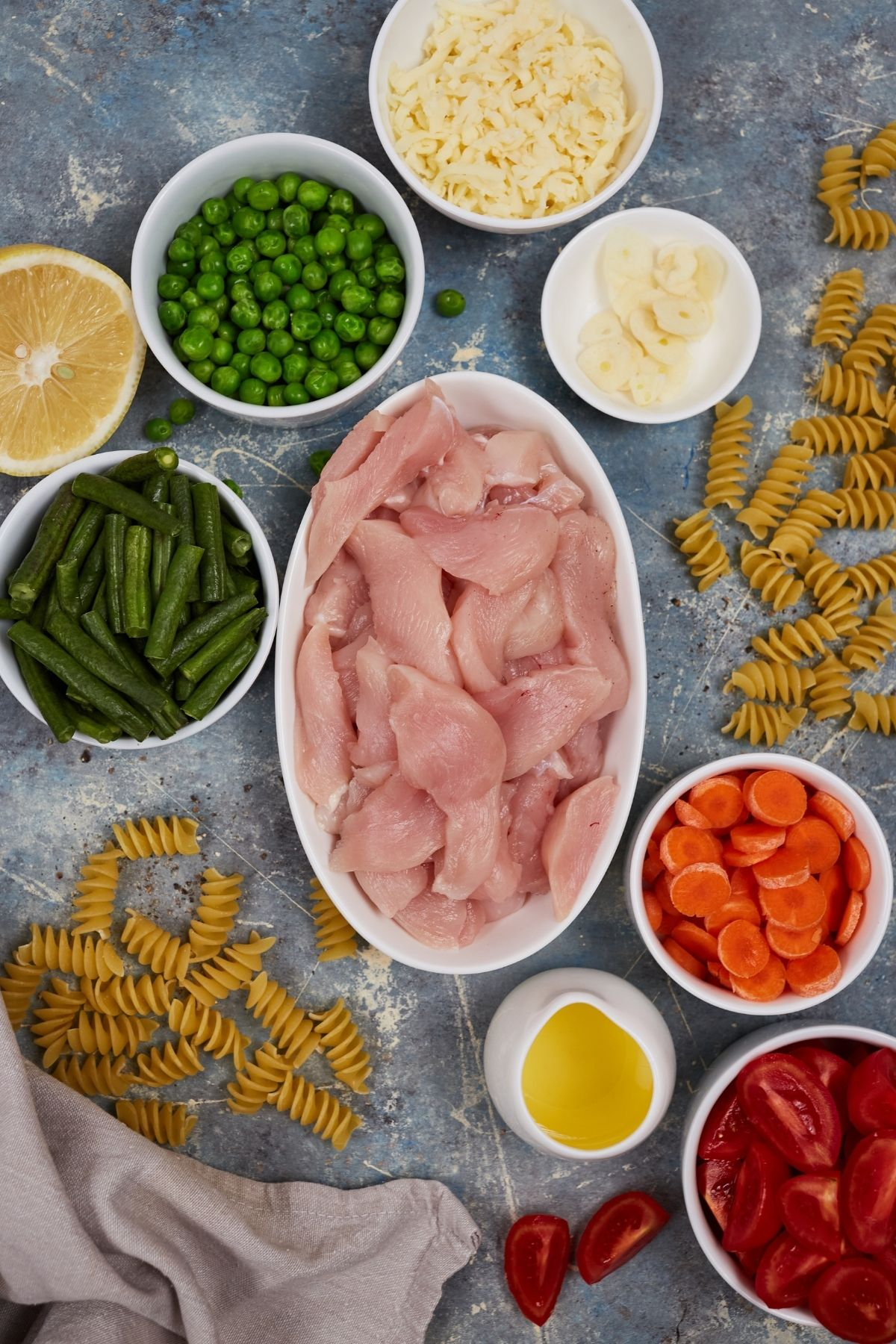 Chicken pasta primavera ingredients