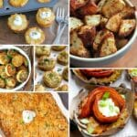 Potato side dish collage