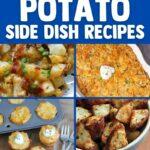 Potato side dish collage