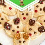 Reindeer cookies on white plate