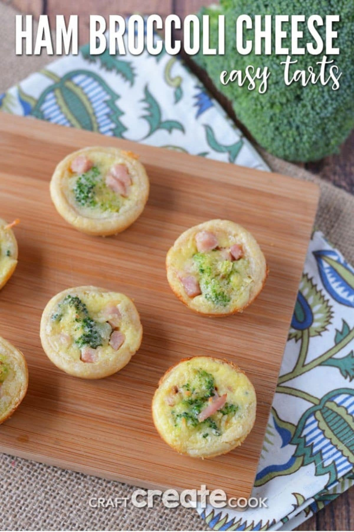 Ham and broccoli tart